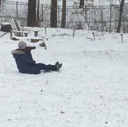 Taking bird pics in the snow.