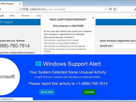 Alerte Microsoft, ordinateur infecté. Trop de gens se font encore avoir par cette arnaque