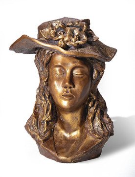 Girl with a hat עלמה עם כובע