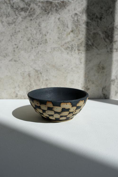 Mini Black Checkered Bowl