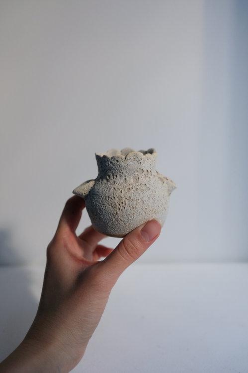 Mini white magma moon vessel