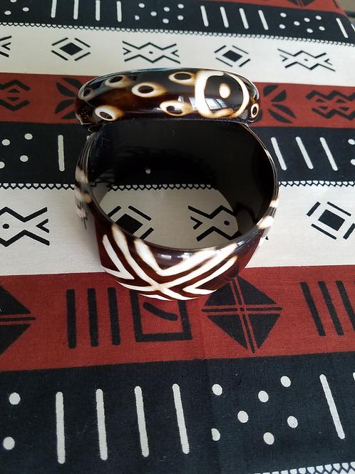 Toni Brown 7 Cream Bracelet - Large