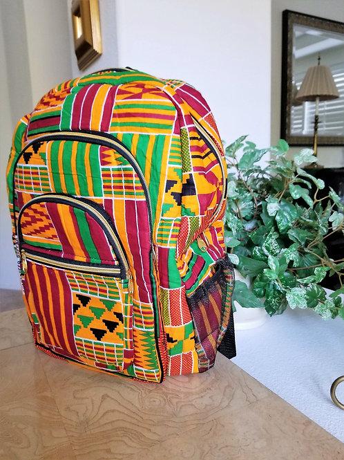 Royal Kente Cloth Backpack