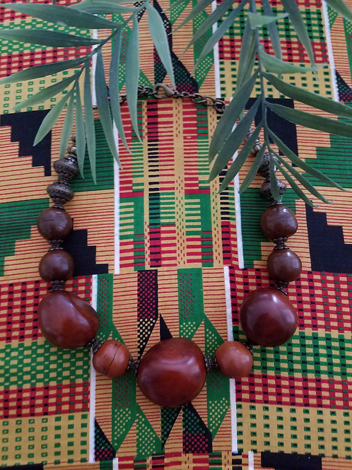 Afrikan Chocolate  Necklace