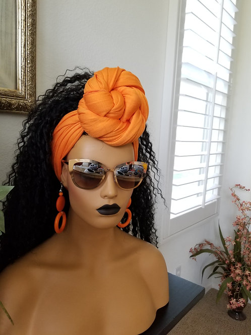 Orange Jersey Knit (Stretch)