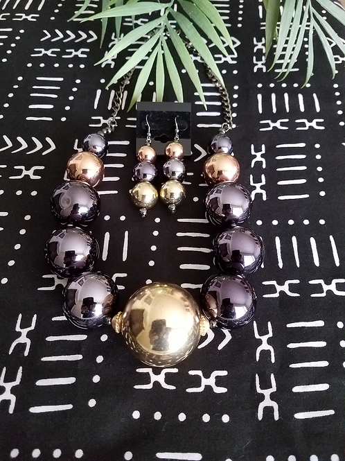 Bold Night Necklace & Earrings