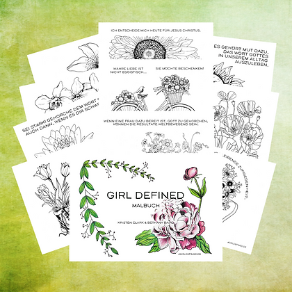 Girl Defined Malbuch-PDF
