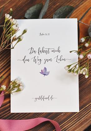 Postkarte DU FÜHRST