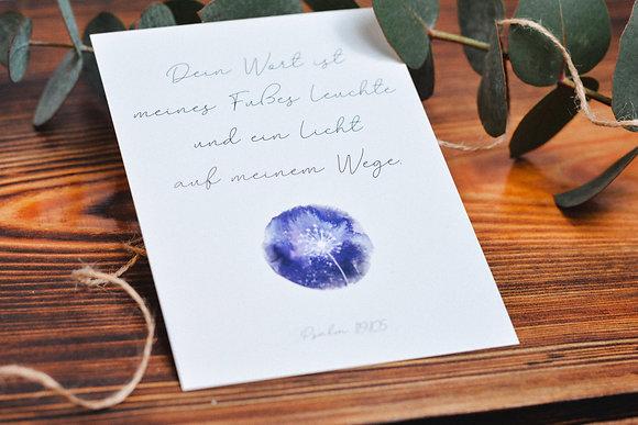 Postkarte DEIN WORT