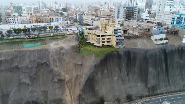 Acantilados de Costa Verde, Lima, Perú. Fuente: CanalN.pe