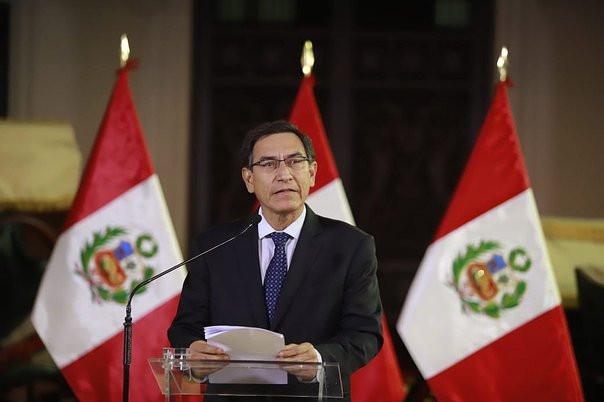 Presidente Vizcarra anunció disolución del Congreso.