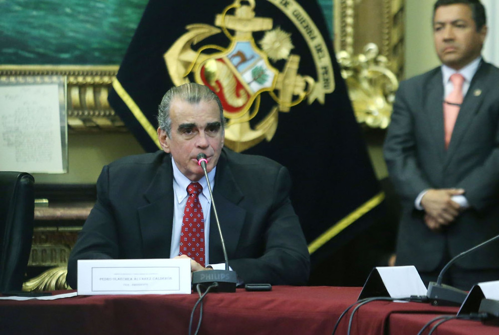 Presidente del Congreso peruano, Pedro Olaechea.