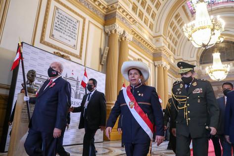 Pedro Castillo pidió unidad a los peruanos, al asumir la presidencia del Perú.