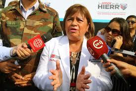 Ministra de Salud, Zulema Tomás.