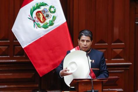 Presidente peruano, Pedro Castillo Terrones.