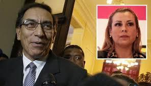 Presidente del Perú, Martín Vizcarra, y presidenta de Essalud, Fiorella Mollinelli.