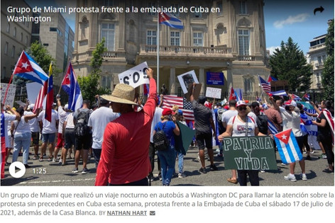 Exilio se moviliza a Washington para exigir acciones contundentes contra régimen cubano.