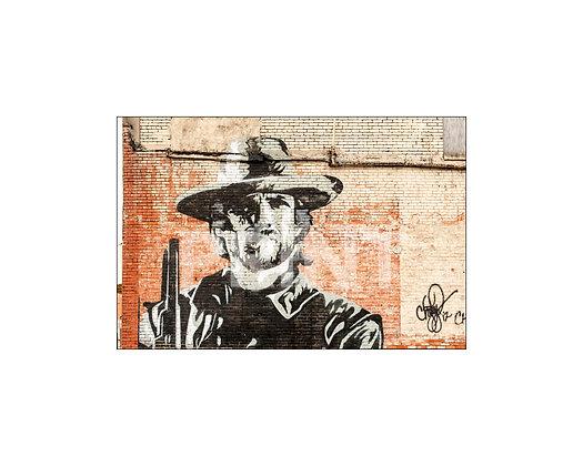 """Clint Eastwood Mural"" Clarksdale, Mississippi"