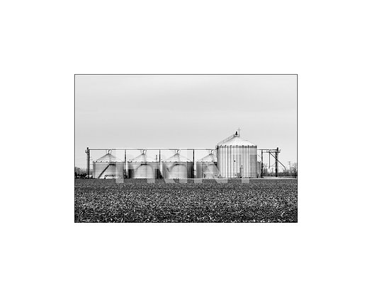 """""""Grain Bins with Cross"""" Leflore County, Mississippi"""