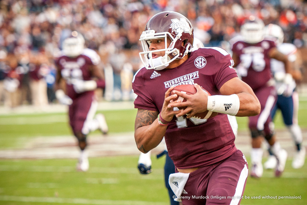 Dak Prescott breaks away on a long rush.