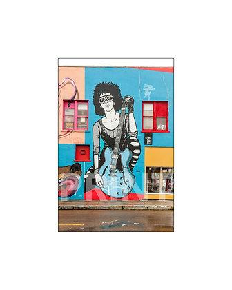 """Miss Rock-n-Roll Mural"" Clarksdale, Mississippi"