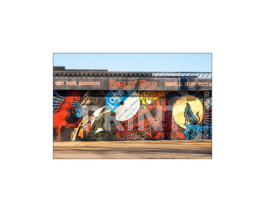 """""""Howlin' Wolf Mural"""" West Point, Mississippi"""