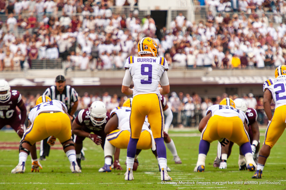 Quarterback Joe Burrow leads the record-setting LSU offense during his 2019 Heisman Trophy campaign.