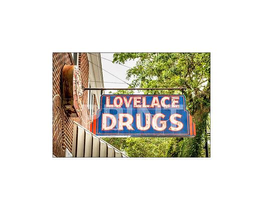 """""""Lovelace Drugs Sign"""" Ocean Springs, Mississippi"""