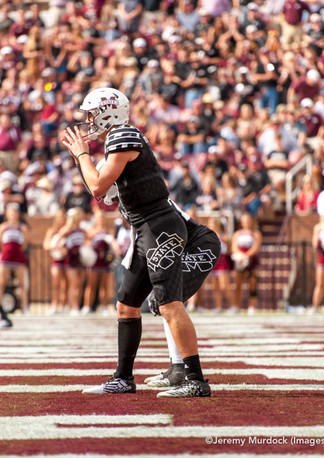 Nick Fitzgerald awaits the snap from his own endzone.