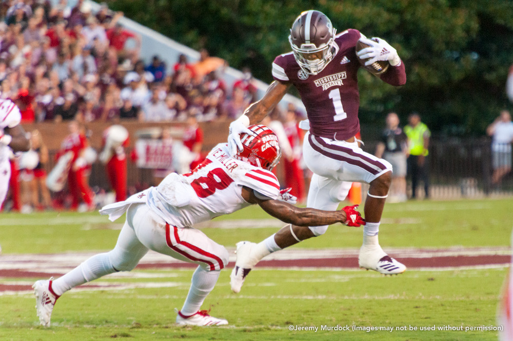 Bulldog wide receiver Stephen Guidry evades a defender.