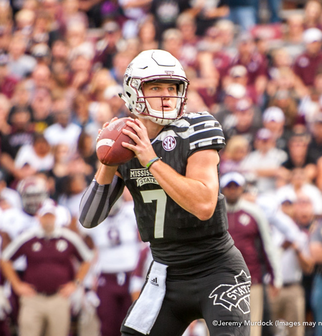 Nick Fitzgerald surveys the field during an offensive drive.