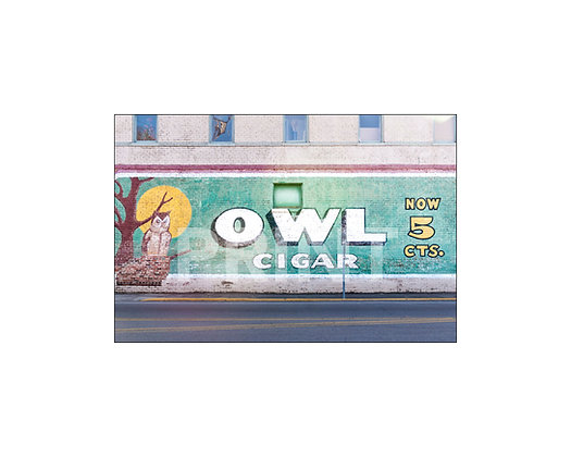"""Owl Cigar Mural"" West Point, Mississippi"