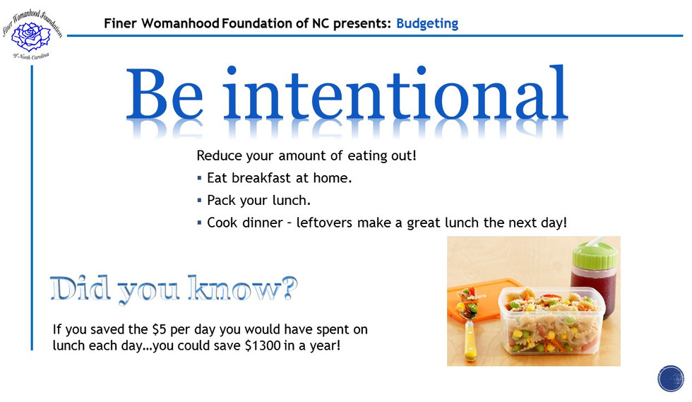 Budgeting Day 1 - Be Intentional.jpg