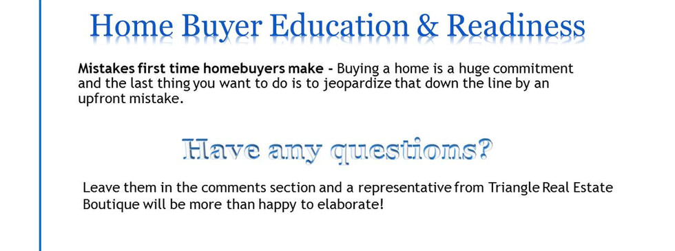 Home Buyer- First time buyer mistakes.JP