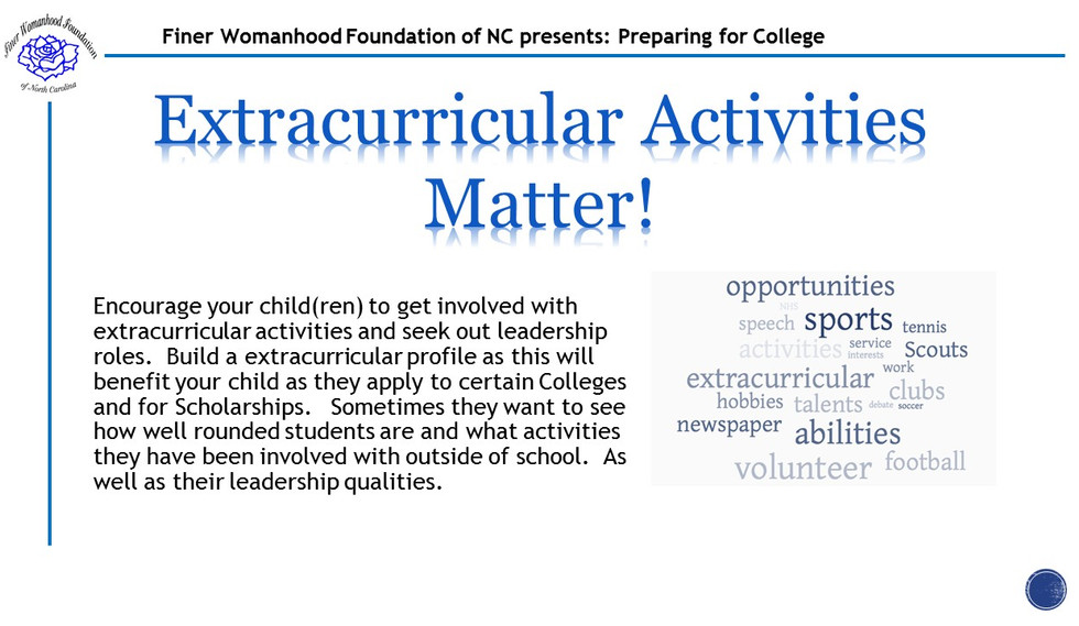 College - Day 1 - Extracurricular Activi