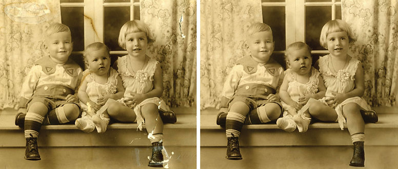 Photo restoration and enhancement