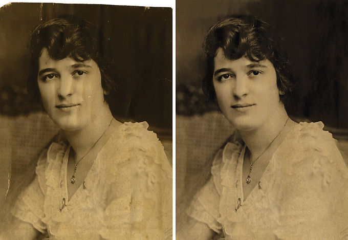We restore and enhance old photos for your memoir