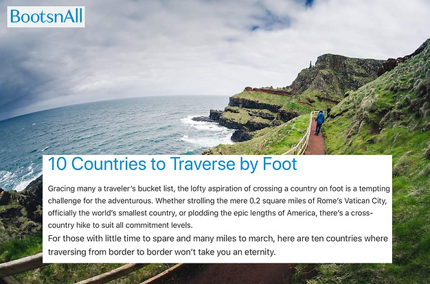 Travel FOB: Boots 'n' All