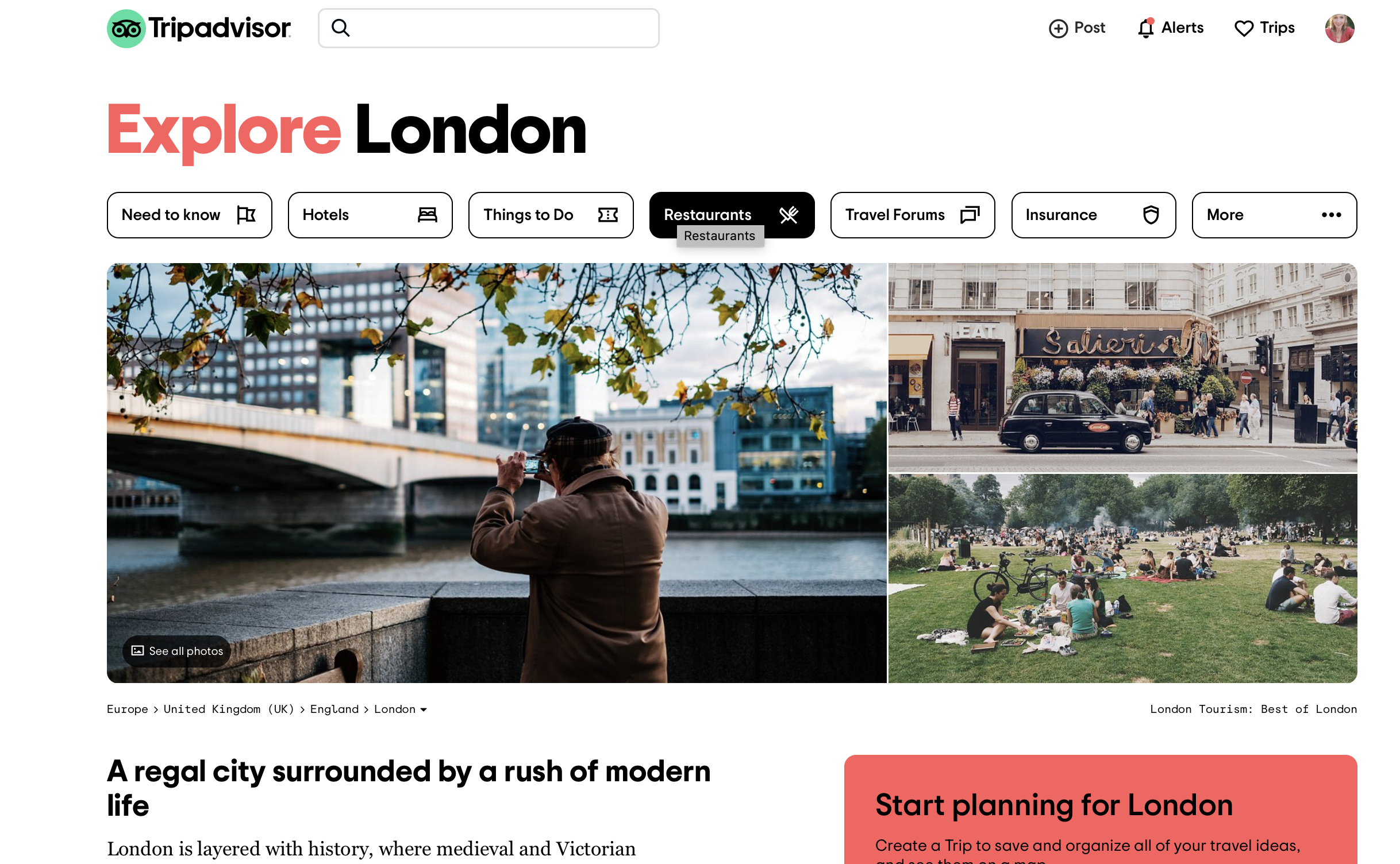 Curated content for in-destination travel guides at TripAdvisor