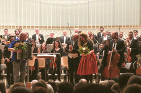 World Premiere of The Borrowed Dress in Berlin | Syrian Expat Philharmonic Orchestra with Manfred Le