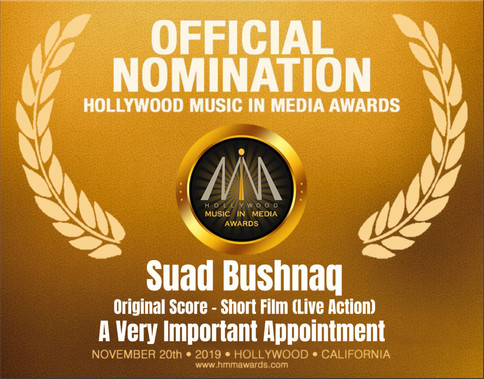 HMMA Nomination for Best Score - Short Film (Live Action)! Incredibly honoured!