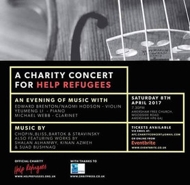 Sospiro for Piano in England for 'Help Refugees'