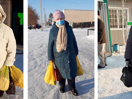 Хорошенские бабушки помогают своим пожилым землякам