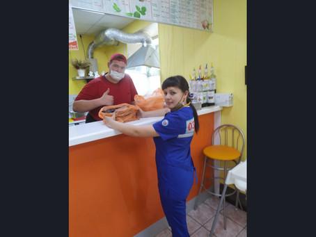 Карасукские предприниматели поддержали городских медиков