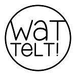 Log van Wat Telt. Het logo is zwart-wit en besaat uit een cirkel met daarin geschreven Wat Telt!