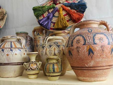 La beauté des poteries tunisiennes artisanales