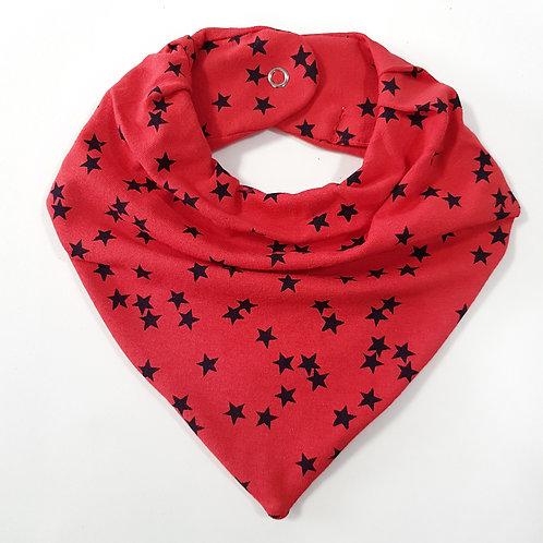 Bandana Estrelas Vermelho e Preto