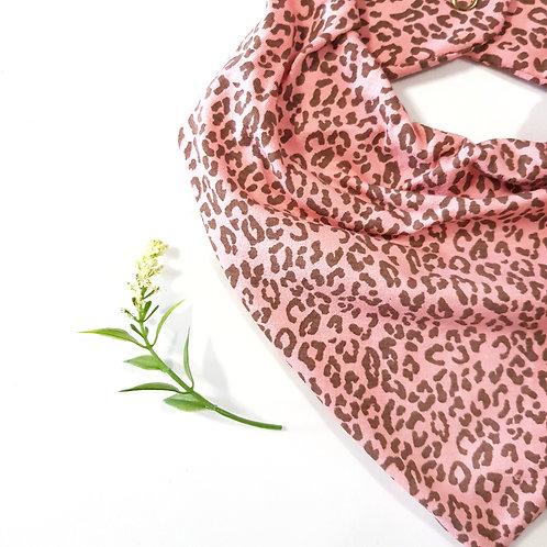 Bandana Animal Print Coral e Chocolate