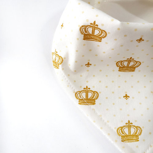 Bandana Coroas Off-White e Dourado