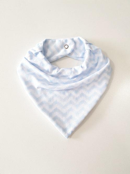 Bandana Chevron Azul Bebê